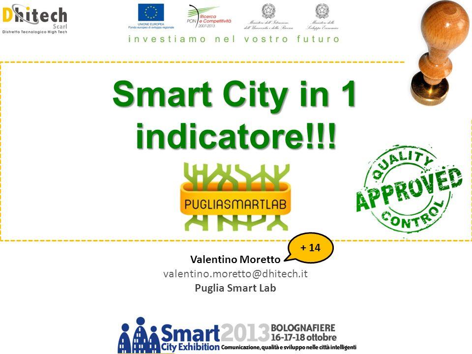 Modelli matematici per lanalisi delle città: approcci per le Smart City Valentino Moretto valentino.moretto@dhitech.it Puglia Smart Lab Smart City in