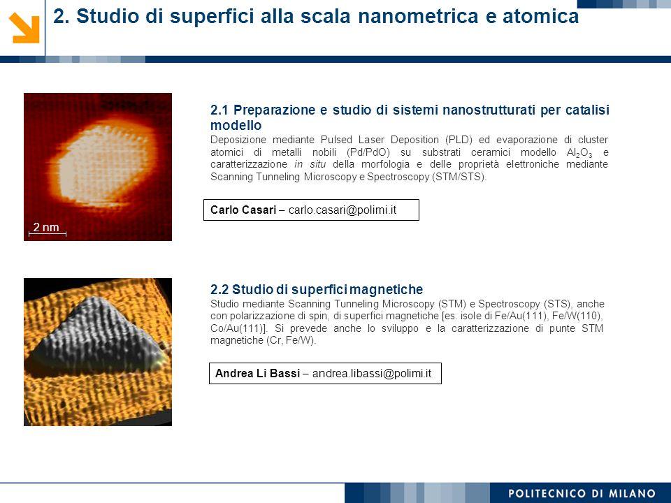 2.1 Preparazione e studio di sistemi nanostrutturati per catalisi modello Deposizione mediante Pulsed Laser Deposition (PLD) ed evaporazione di cluste