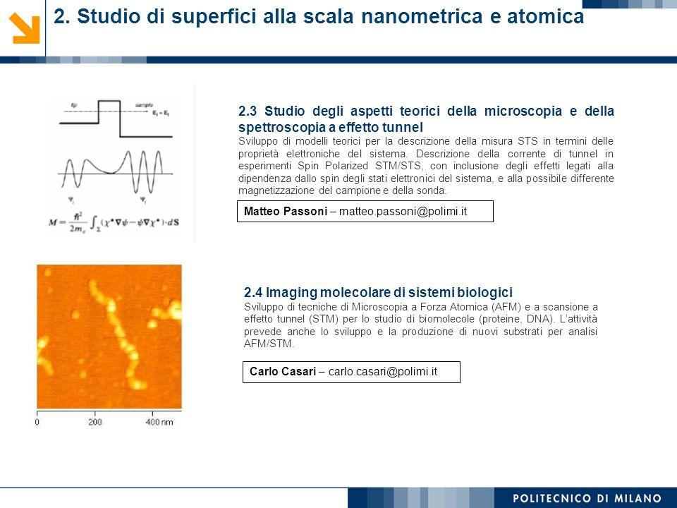 2. Studio di superfici alla scala nanometrica e atomica 2.3 Studio degli aspetti teorici della microscopia e della spettroscopia a effetto tunnel Svil
