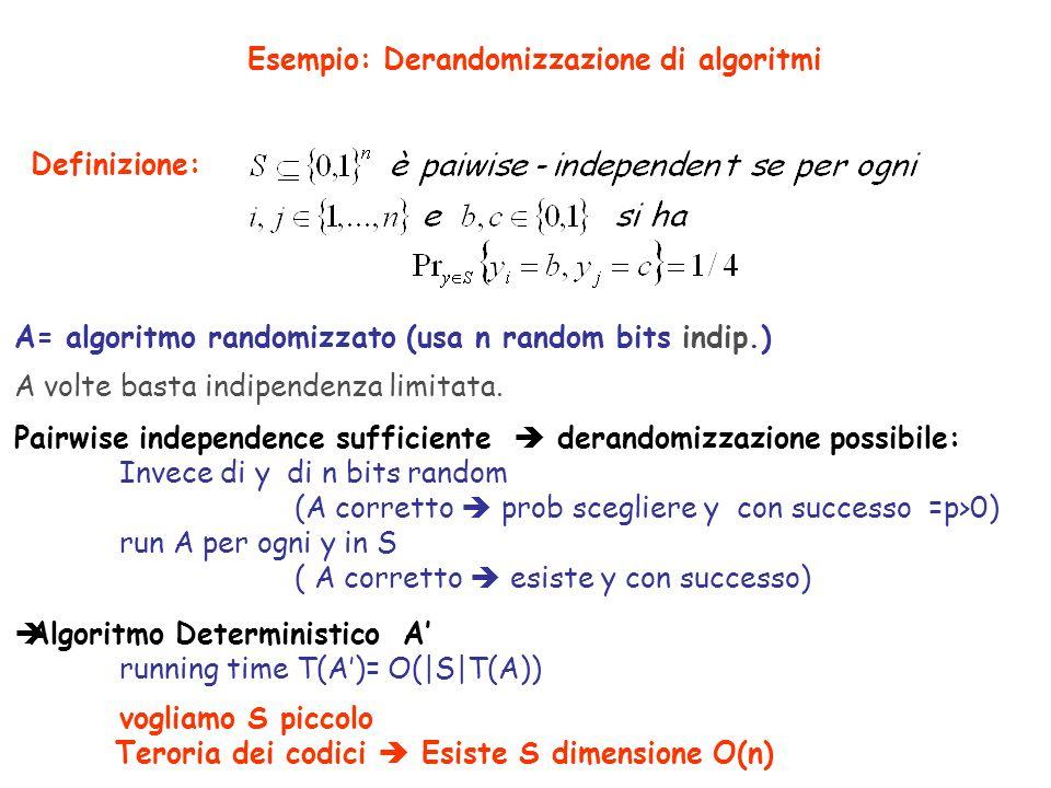 Codici lineari Alfabeto= A = campo finito (es.