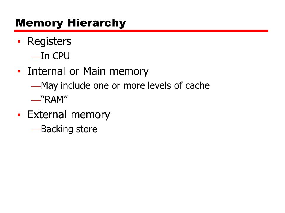 Write back Updates initially made in cache only UPDATE bit for cache slot is set when update occurs If block is to be replaced, write to main memory only if update bit is set Other caches get out of sync I/O must access main memory through cache N.B.