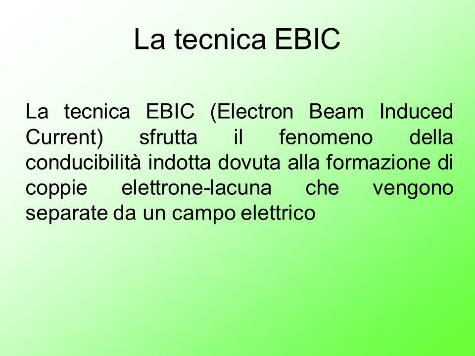 La tecnica EBIC (Electron Beam Induced Current) sfrutta il fenomeno della conducibilità indotta dovuta alla formazione di coppie elettrone-lacuna che