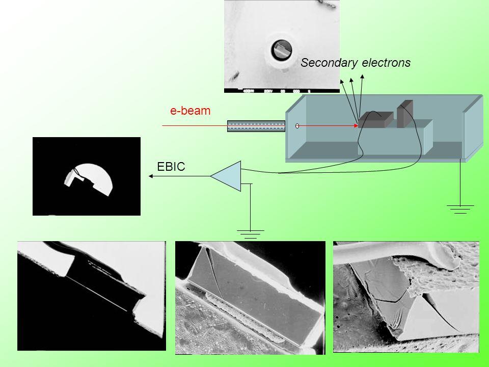 ù Secondary electrons EBIC e-beam
