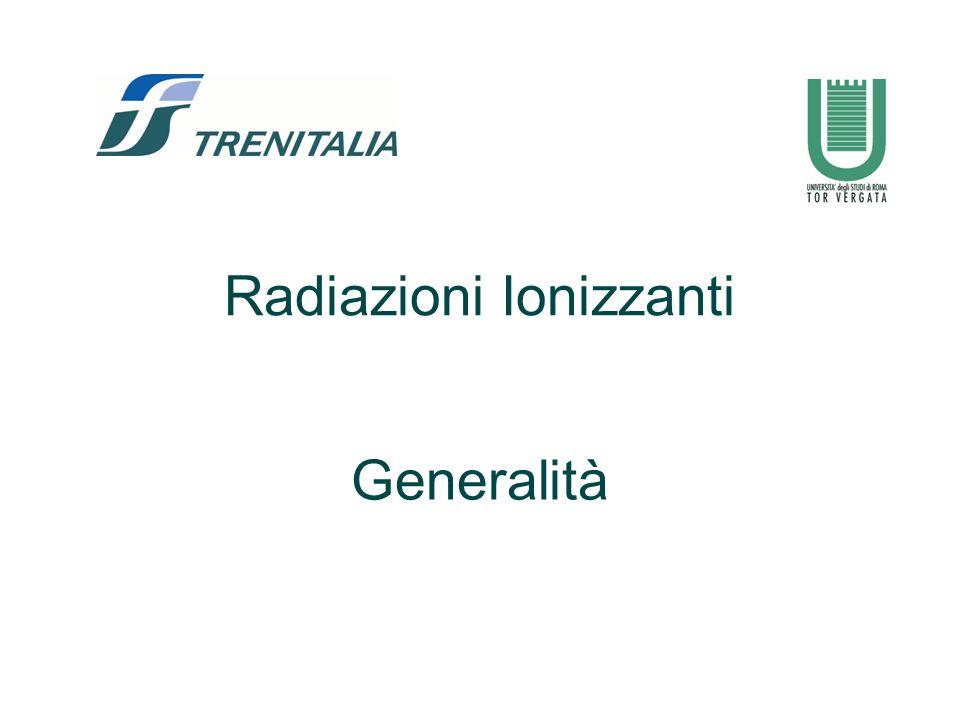 Radiazioni Ionizzanti Generalità