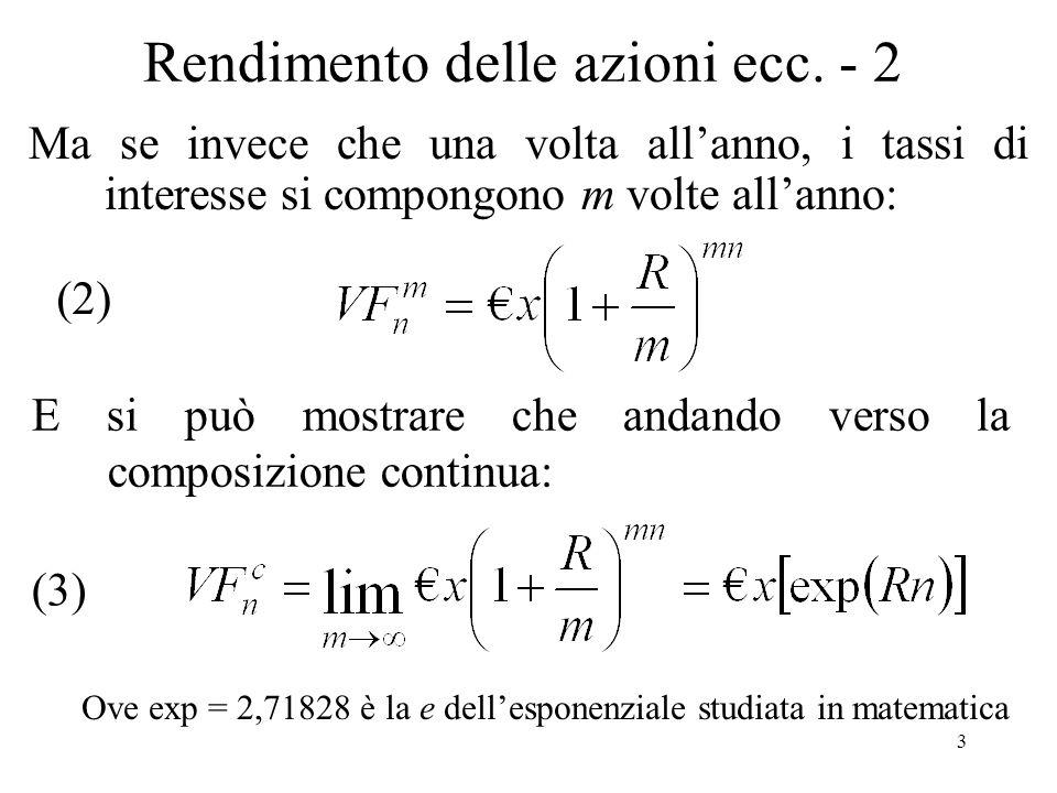Transitività Se un individuo preferisce il prospetto rischioso x al prospetto y, e il prospetto y al prospetto z allora preferirà x a z.