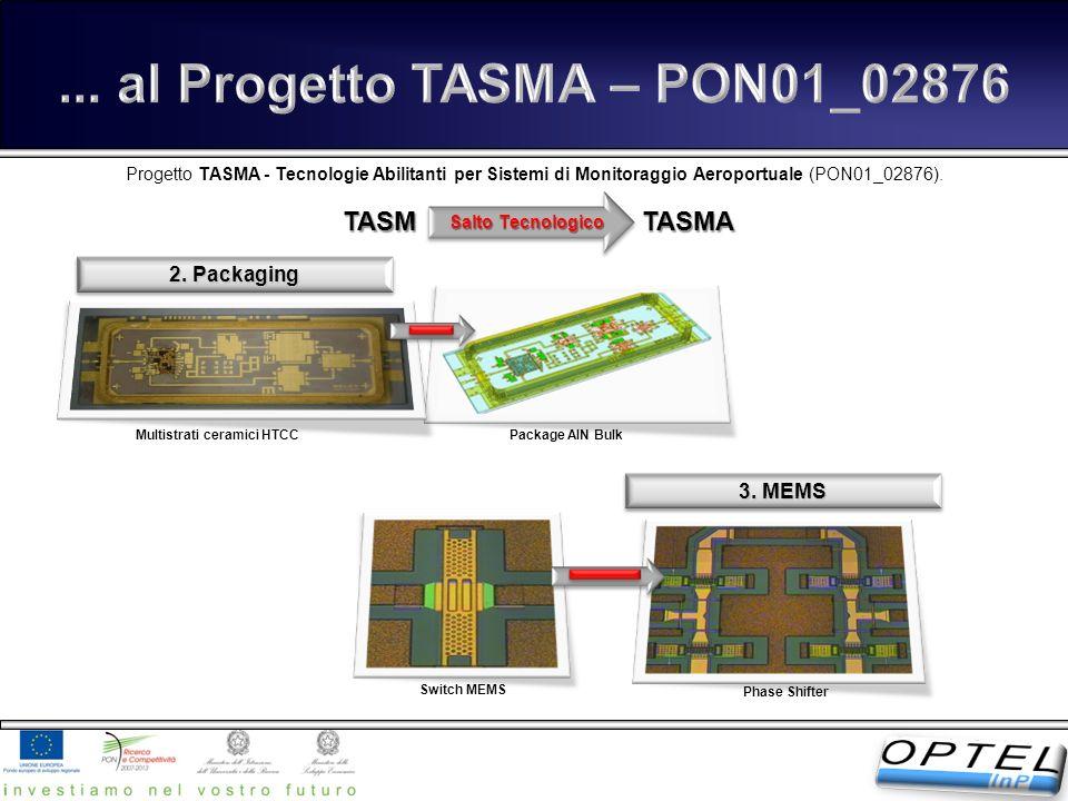 Progetto TASMA - Tecnologie Abilitanti per Sistemi di Monitoraggio Aeroportuale (PON01_02876). Multistrati ceramici HTCC 2. Packaging 3. MEMS Package
