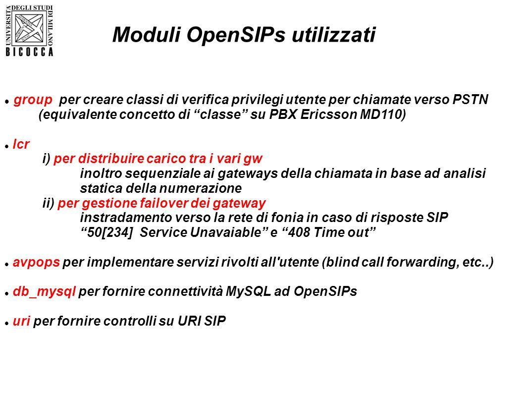 group per creare classi di verifica privilegi utente per chiamate verso PSTN (equivalente concetto di classe su PBX Ericsson MD110) lcr i) per distrib