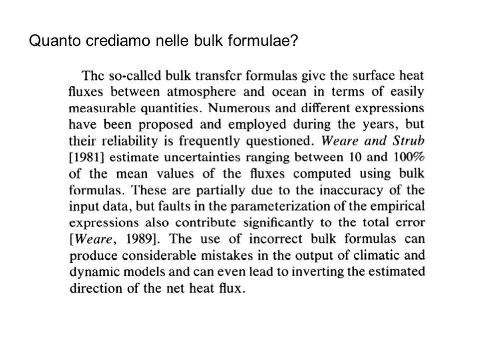 Quanto crediamo nelle bulk formulae