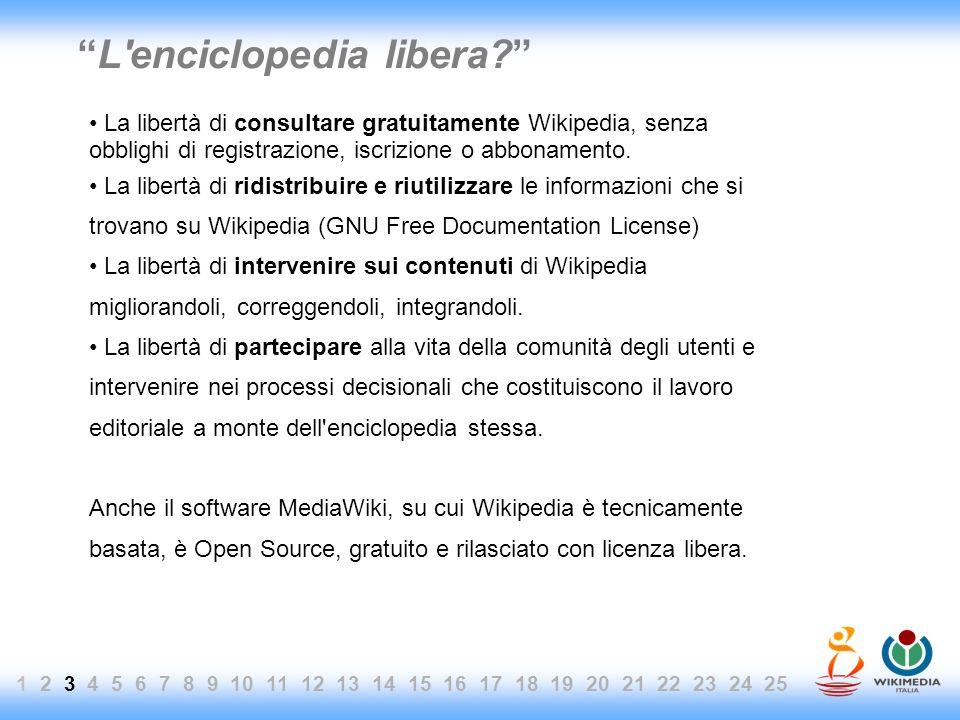 L'enciclopedia libera? La libertà di consultare gratuitamente Wikipedia, senza obblighi di registrazione, iscrizione o abbonamento. La libertà di ridi