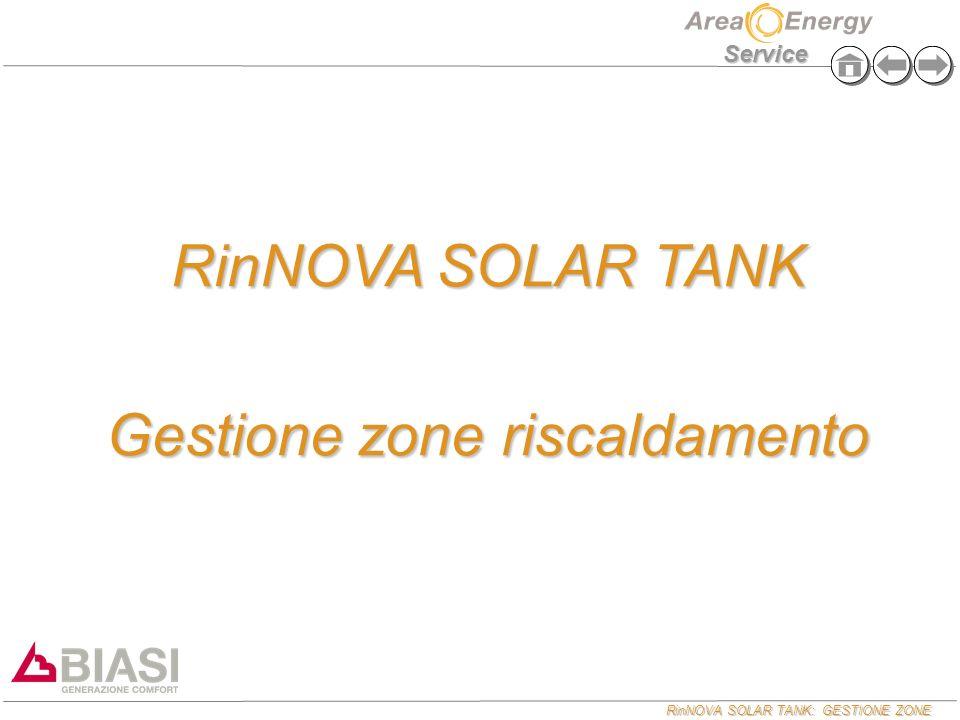 RinNOVA SOLAR TANK: GESTIONE ZONE Service RinNOVA SOLAR TANK Gestione zone riscaldamento