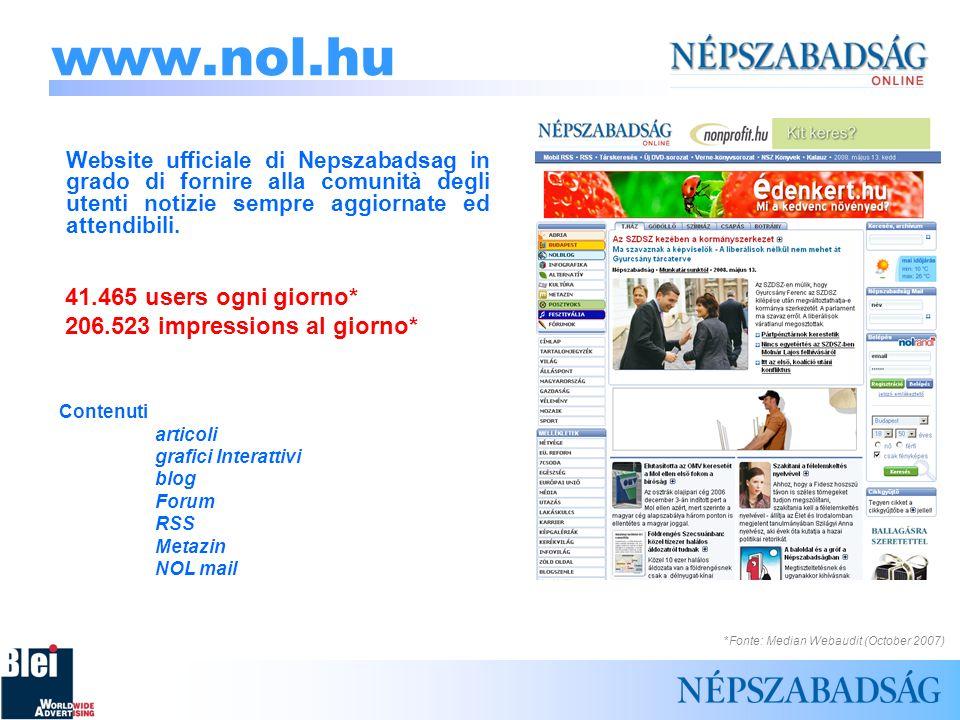 www.nol.hu Website ufficiale di Nepszabadsag in grado di fornire alla comunità degli utenti notizie sempre aggiornate ed attendibili.