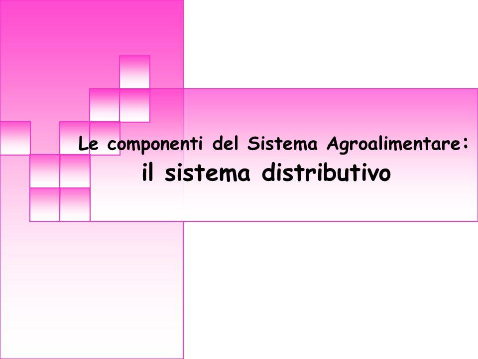 Le componenti del Sistema Agroalimentare : il sistema distributivo