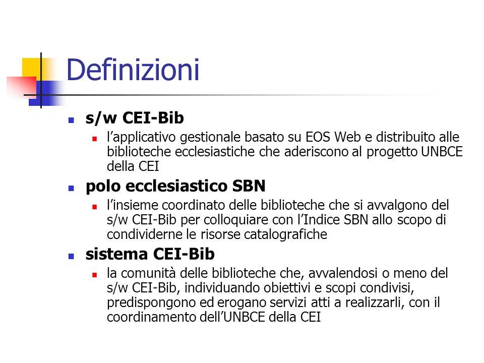 Repository bibliografica CEI-Bib Archivio CEI-Bib Indice SBN eccles. Open Archive CEI-Bib OAI-PMH