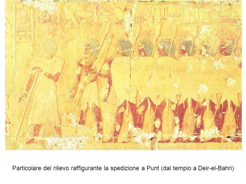 Particolare del rilievo raffigurante la spedizione a Punt (dal tempio a Deir-el-Bahri)