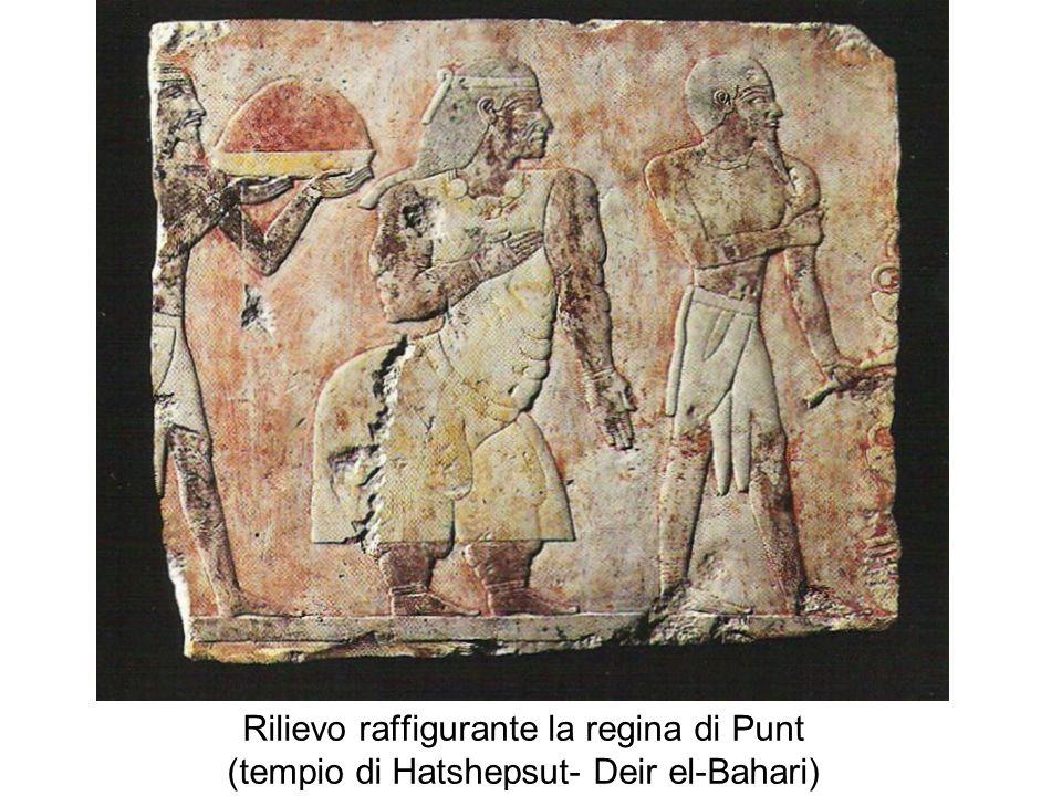 Rilievo raffigurante la regina di Punt (tempio di Hatshepsut- Deir el-Bahari)