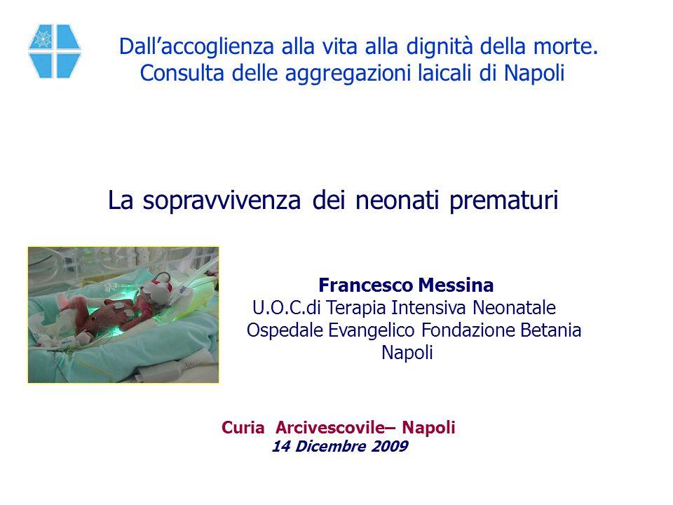 Curia Arcivescovile– Napoli 14 Dicembre 2009 Francesco Messina U.O.C.di Terapia Intensiva Neonatale Ospedale Evangelico Fondazione Betania Napoli Dall