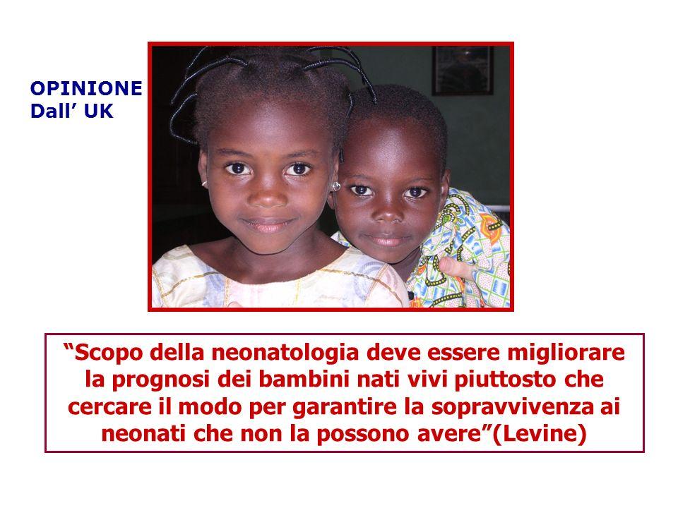 Scopo della neonatologia deve essere migliorare la prognosi dei bambini nati vivi piuttosto che cercare il modo per garantire la sopravvivenza ai neon
