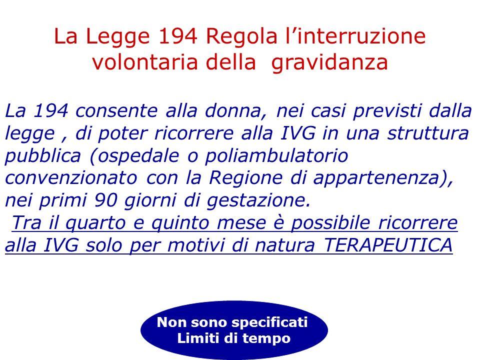 La 194 consente alla donna, nei casi previsti dalla legge, di poter ricorrere alla IVG in una struttura pubblica (ospedale o poliambulatorio convenzio