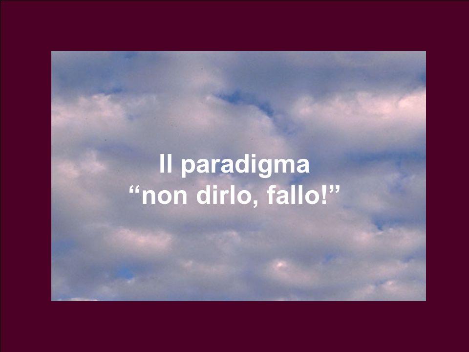 Il paradigma non dirlo, fallo!