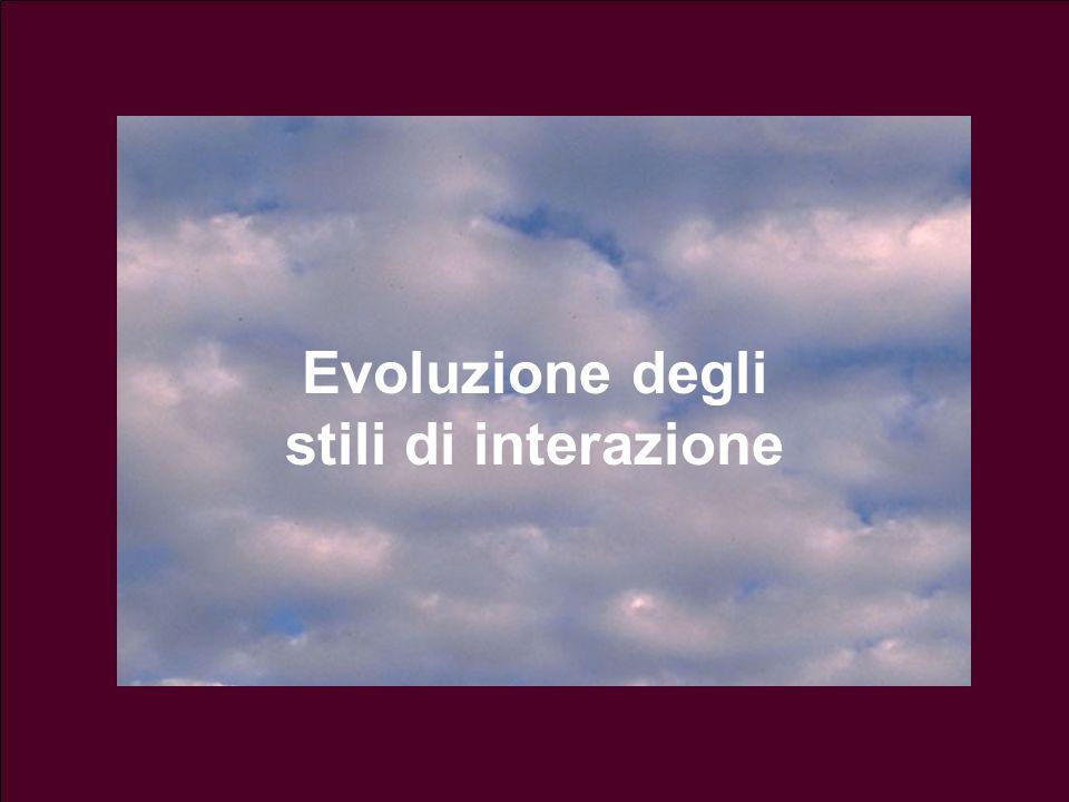 Evoluzione degli stili di interazione