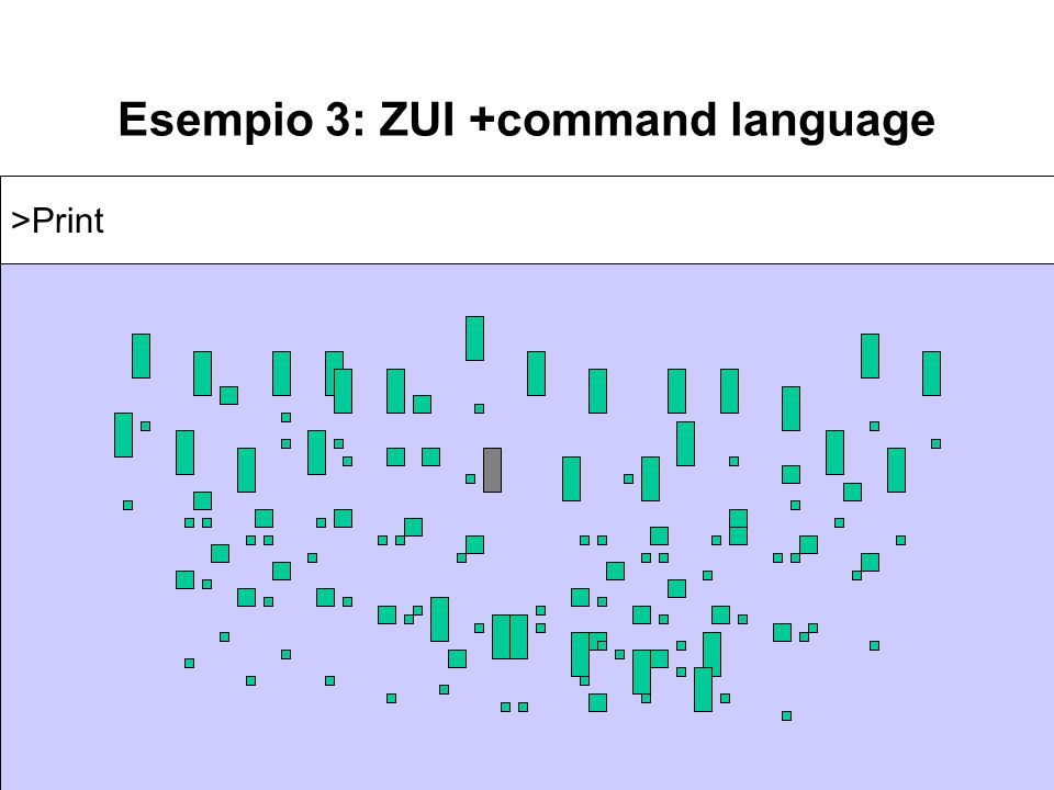 Esempio 3: ZUI +command language >Print