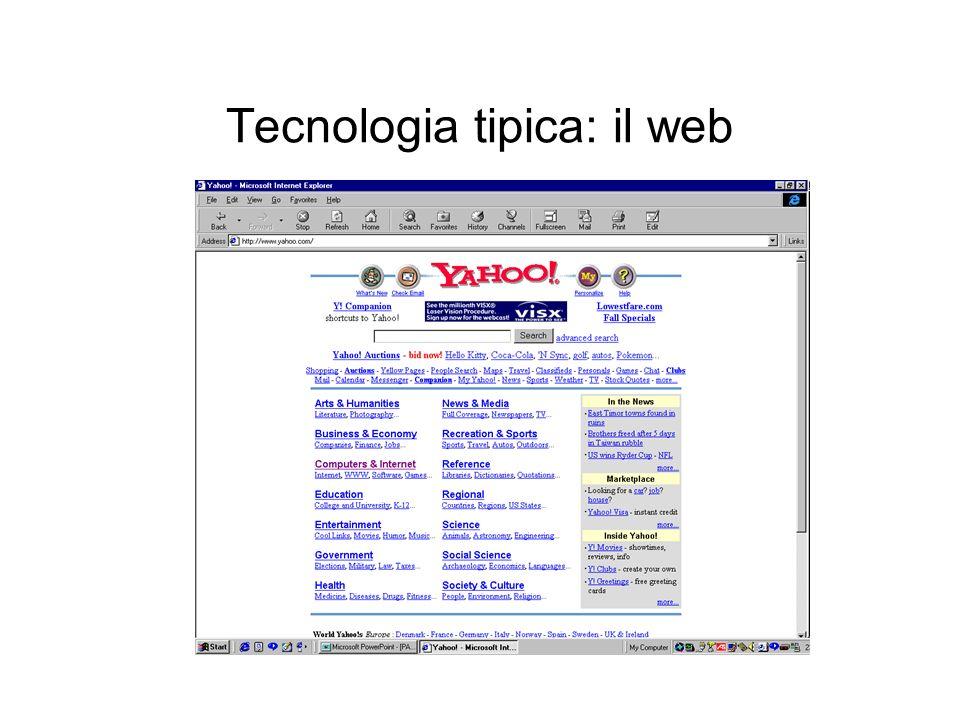 Tecnologia tipica: il web