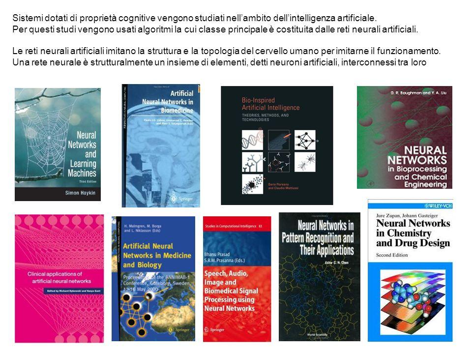 Sistemi dotati di proprietà cognitive vengono studiati nellambito dellintelligenza artificiale. Per questi studi vengono usati algoritmi la cui classe