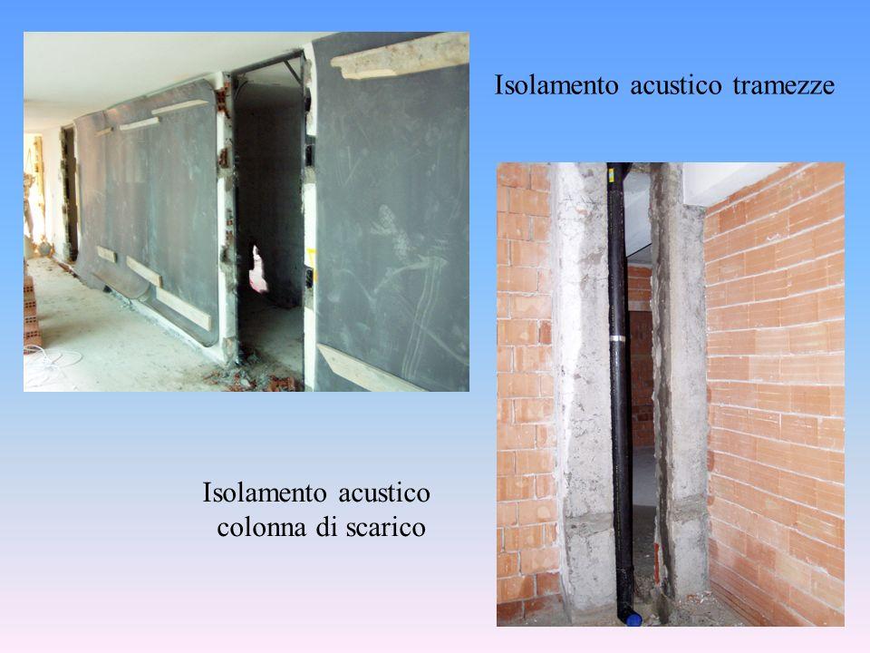 Isolamento acustico tramezze Isolamento acustico colonna di scarico