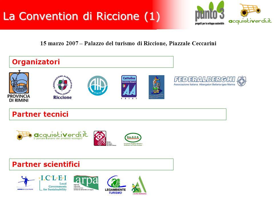 La Convention di Riccione (1) Organizatori Partner scientifici Partner tecnici 15 marzo 2007 – Palazzo del turismo di Riccione, Piazzale Ceccarini
