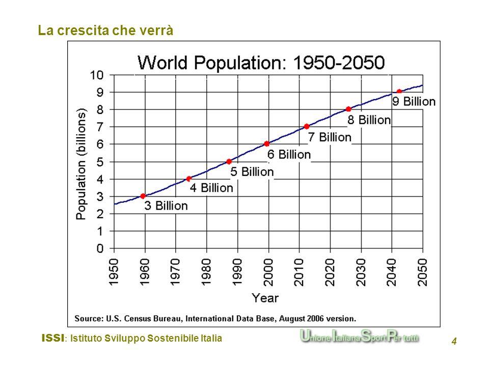 ISSI : Istituto Sviluppo Sostenibile Italia 4 La crescita che verrà