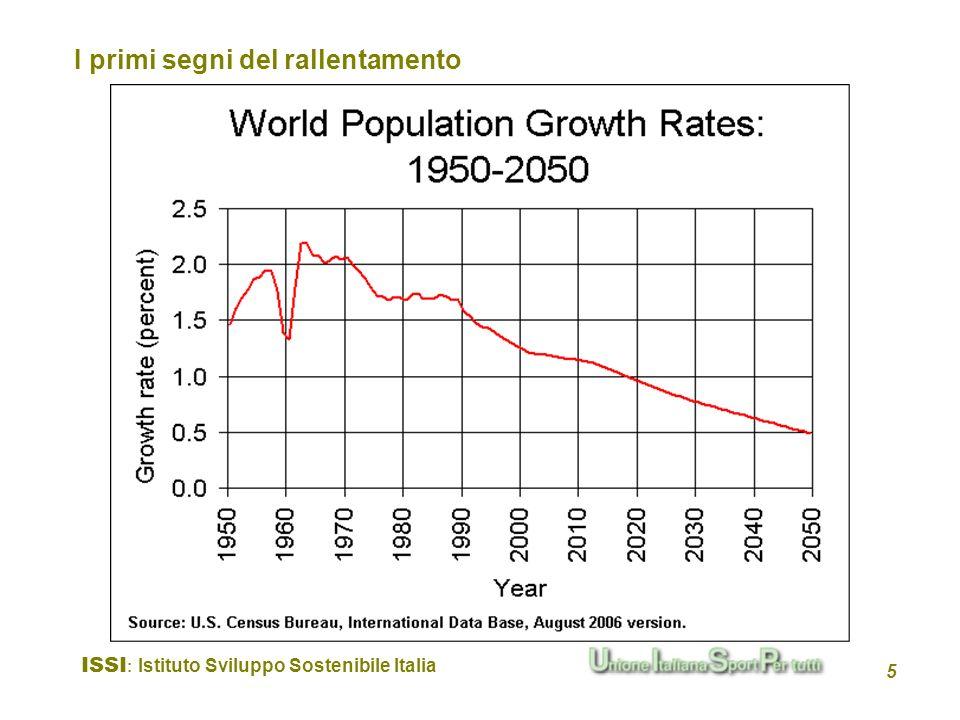 ISSI : Istituto Sviluppo Sostenibile Italia 5 I primi segni del rallentamento