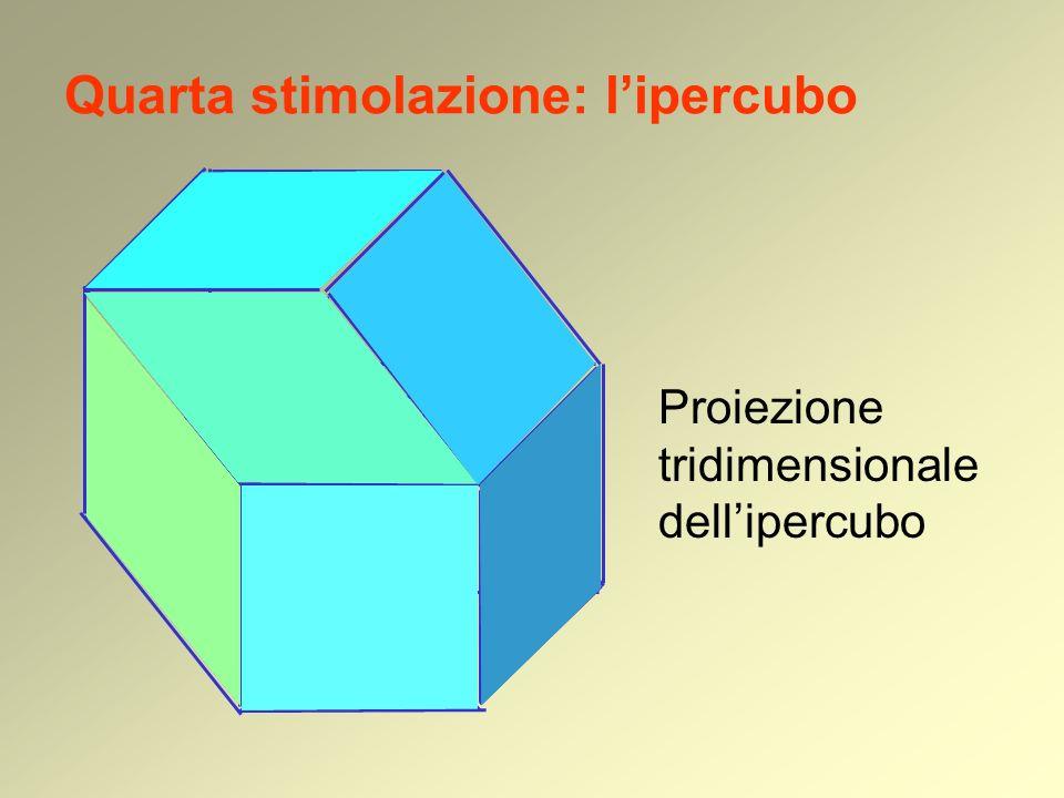 Quarta stimolazione: lipercubo Proiezione tridimensionale dellipercubo