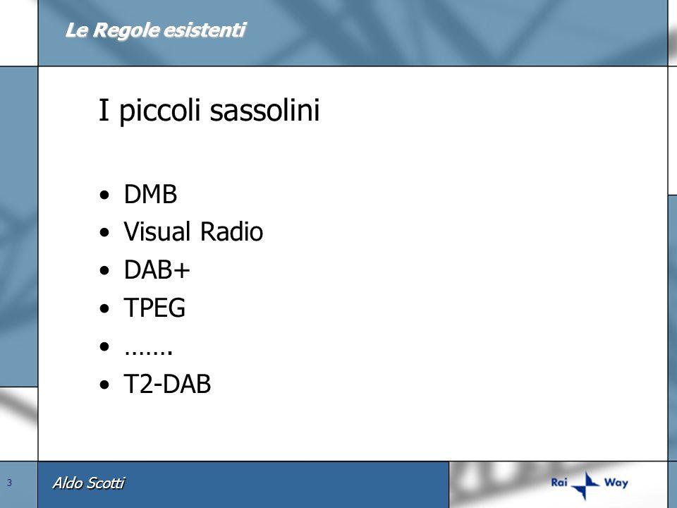 Aldo Scotti 3 I piccoli sassolini DMB Visual Radio DAB+ TPEG ……. T2-DAB Le Regole esistenti
