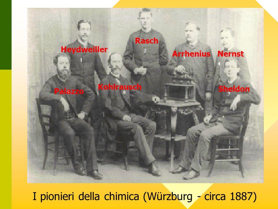 I pionieri della chimica (Würzburg - circa 1887) Heydweiller Rasch ArrheniusNernst Palazzo Sheldon Kohlrausch