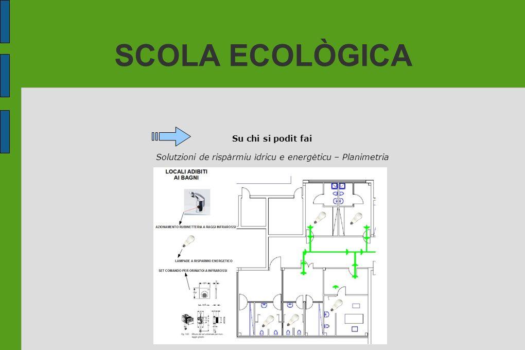SCOLA ECOLÒGICA Su chi si podit fai Solutzioni de rispàrmiu ìdricu e energèticu – Planimetria