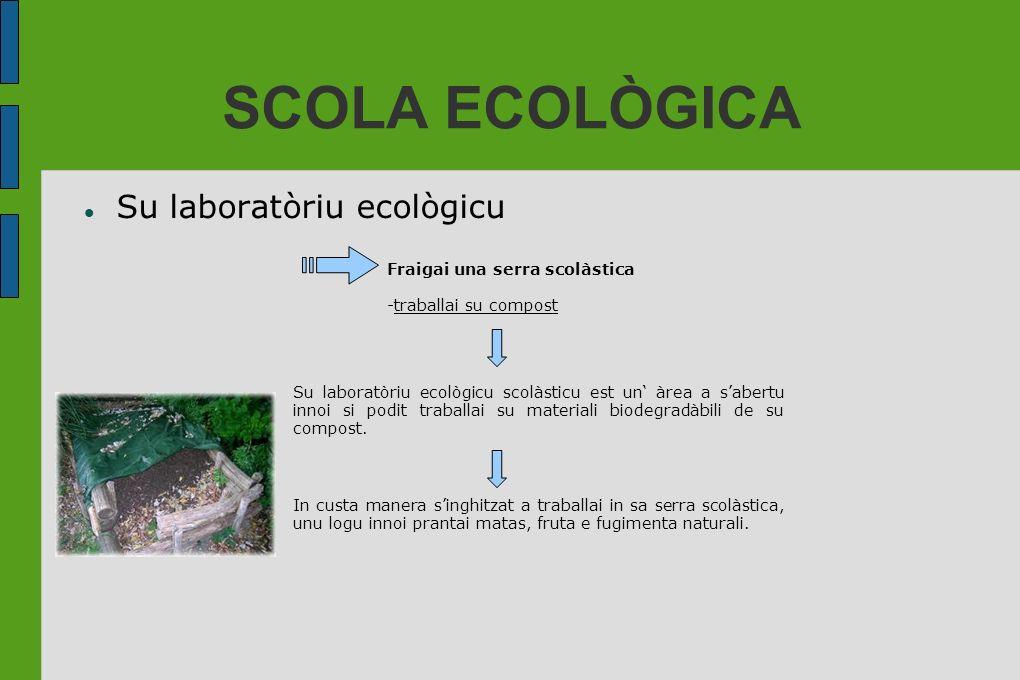 SCOLA ECOLÒGICA Su laboratòriu ecològicu Fraigai una serra scolàstica -traballai su compost Su laboratòriu ecològicu scolàsticu est un àrea a sabertu