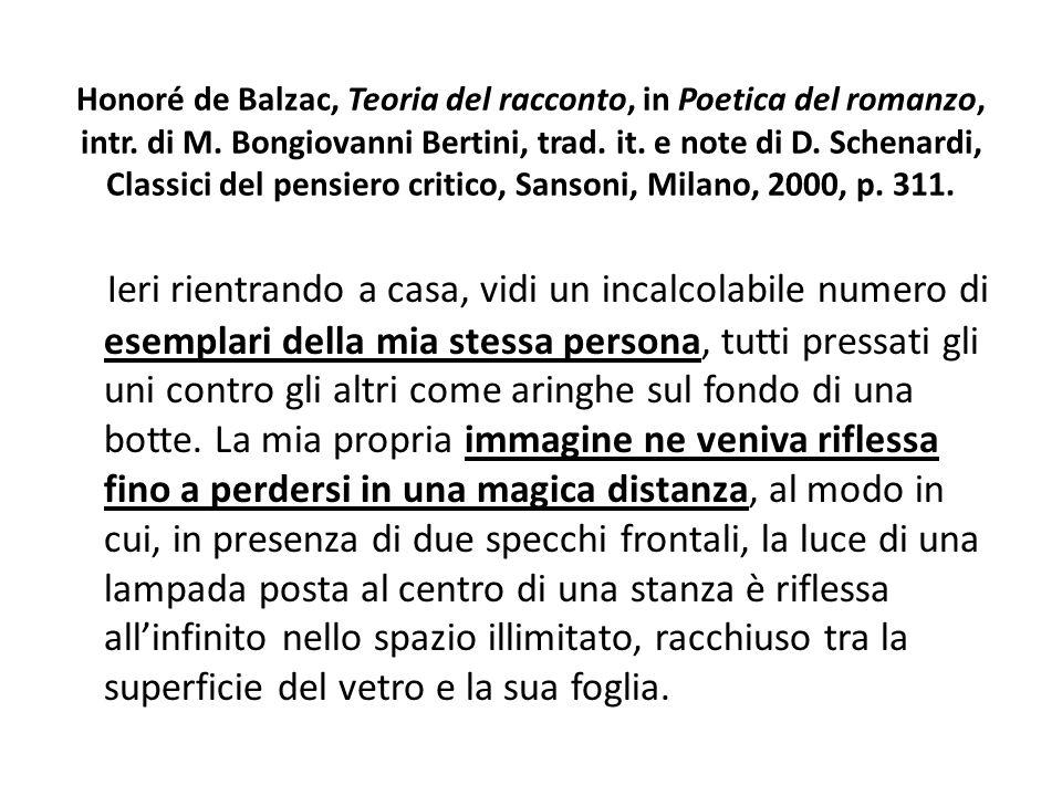 Honoré de Balzac, Teoria del racconto, in Poetica del romanzo, intr. di M. Bongiovanni Bertini, trad. it. e note di D. Schenardi, Classici del pensier