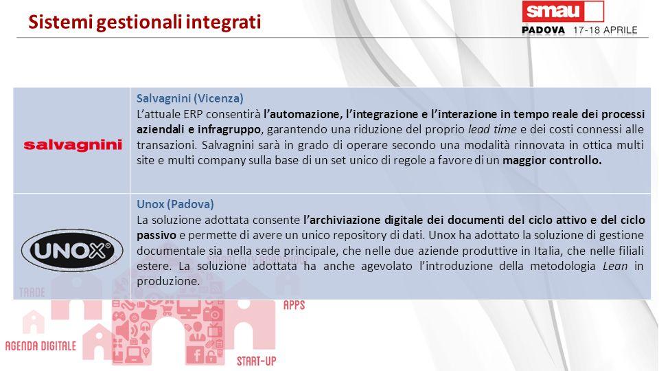 Salvagnini (Vicenza) Lattuale ERP consentirà lautomazione, lintegrazione e linterazione in tempo reale dei processi aziendali e infragruppo, garantend