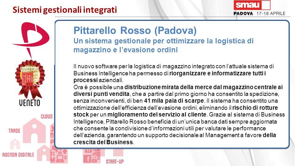 Pittarello Rosso (Padova) Un sistema gestionale per ottimizzare la logistica di magazzino e levasione ordini Il nuovo software per la logistica di mag