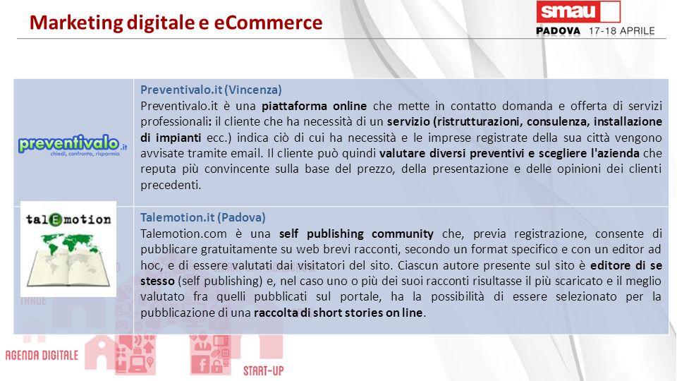Preventivalo.it (Vincenza) Preventivalo.it è una piattaforma online che mette in contatto domanda e offerta di servizi professionali: il cliente che h