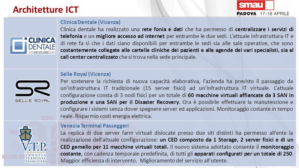 Clinica Dentale (Vicenza) Clinica dentale ha realizzato una rete fonia e dati che ha permesso di centralizzare i servizi di telefonia e un migliore ac