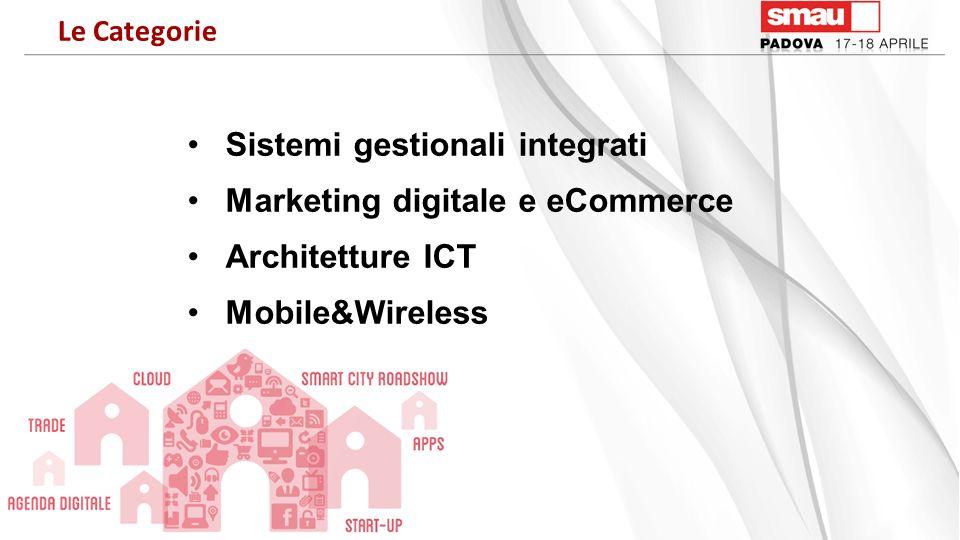 Sistemi gestionali integrati Marketing digitale e eCommerce Architetture ICT Mobile&Wireless Le Categorie