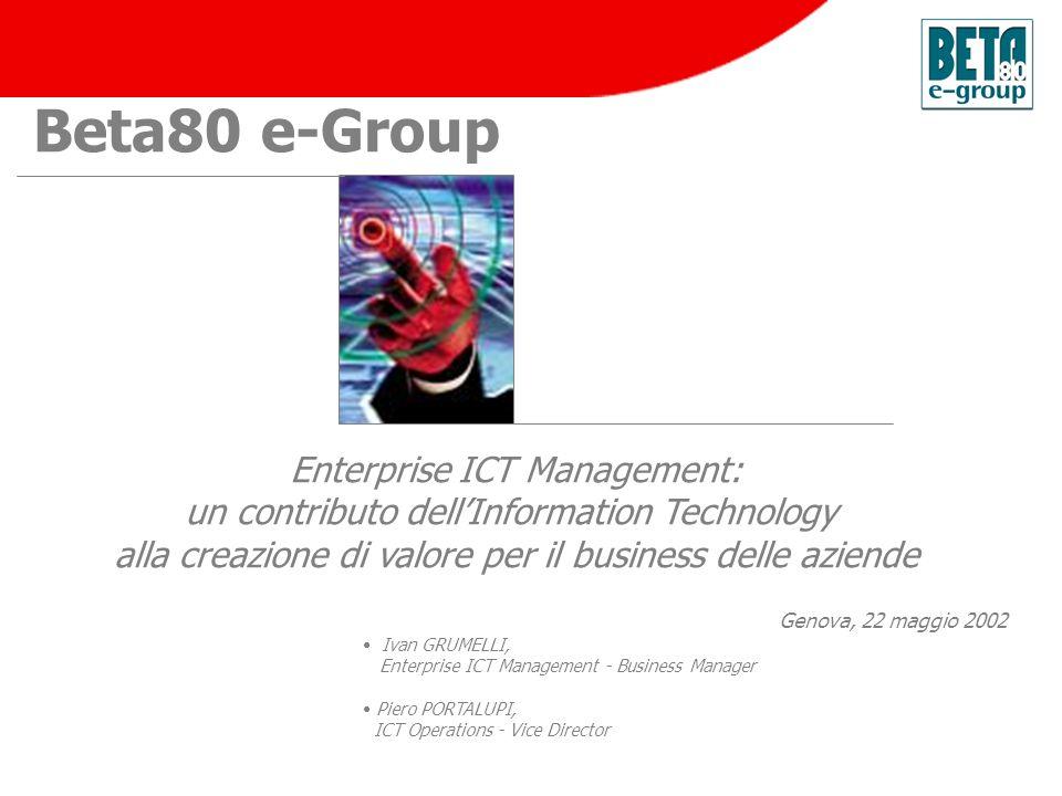 Beta80 e-Group Enterprise ICT Management: un contributo dellInformation Technology alla creazione di valore per il business delle aziende Ivan GRUMELL