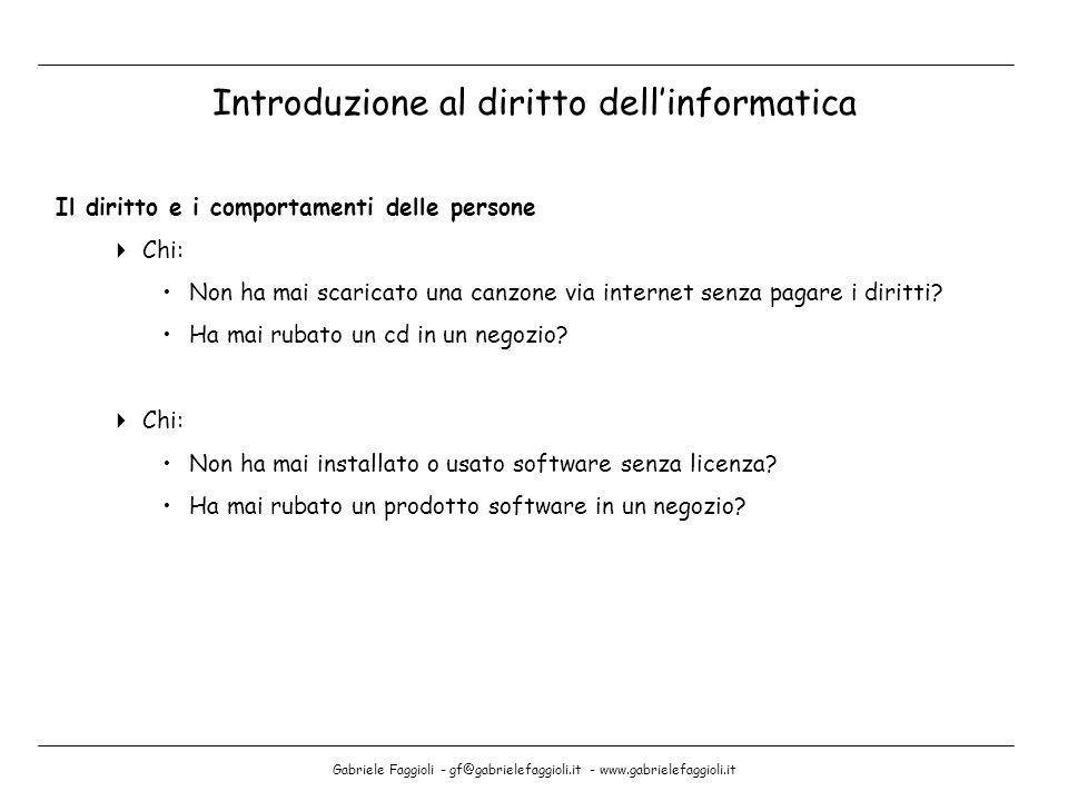 Gabriele Faggioli - gf@gabrielefaggioli.it - www.gabrielefaggioli.it Il diritto e i comportamenti delle persone Chi: Non ha mai scaricato una canzone