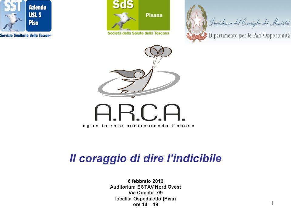1 Il coraggio di dire lindicibile 6 febbraio 2012 Auditorium ESTAV Nord Ovest Via Cocchi, 7/9 località Ospedaletto (Pisa) ore 14 – 19
