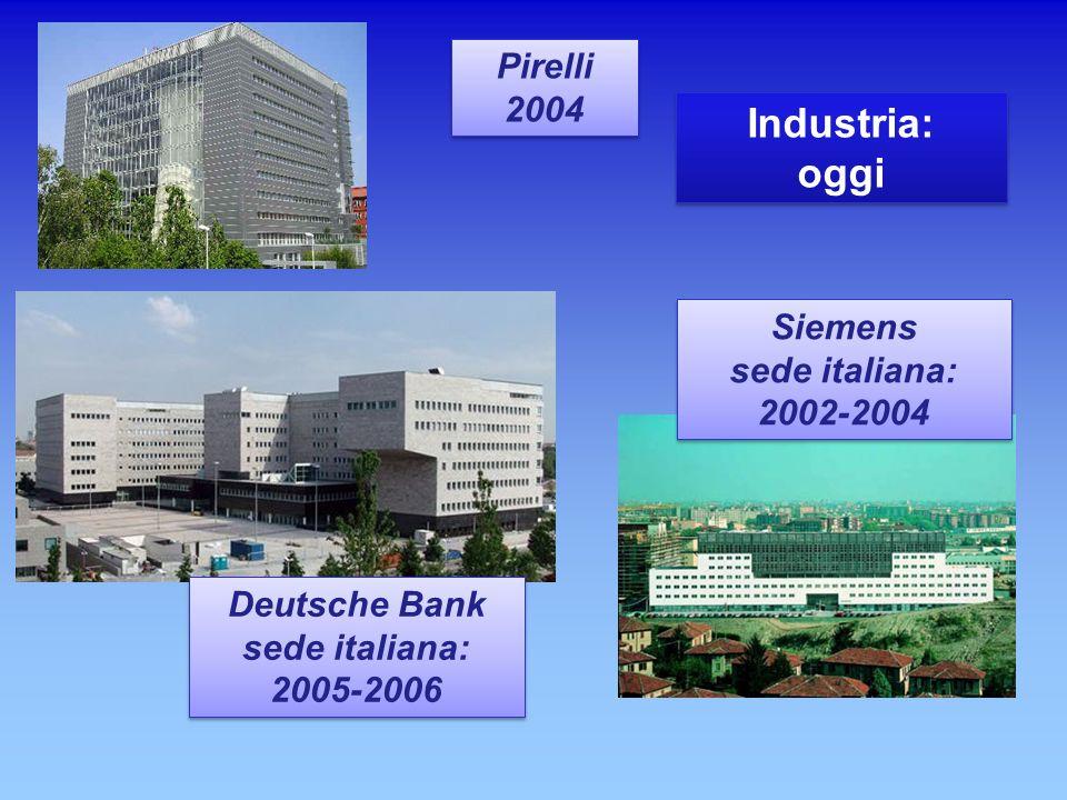 Pirelli 2004 Pirelli 2004 Siemens sede italiana: 2002-2004 Siemens sede italiana: 2002-2004 Deutsche Bank sede italiana: 2005-2006 Deutsche Bank sede
