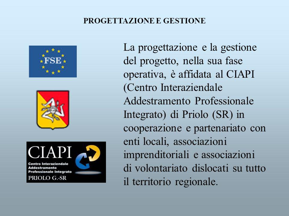 La progettazione e la gestione del progetto, nella sua fase operativa, è affidata al CIAPI (Centro Interaziendale Addestramento Professionale Integrat