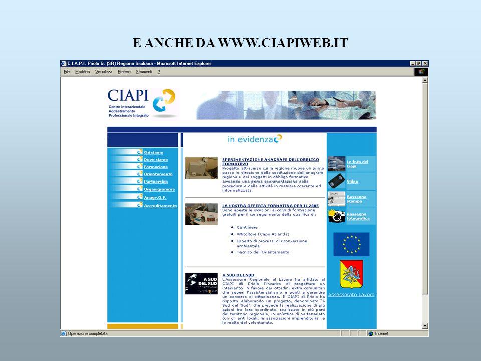 E ANCHE DA WWW.CIAPIWEB.IT