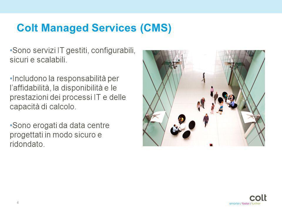 4 Colt Managed Services (CMS) Sono servizi IT gestiti, configurabili, sicuri e scalabili.