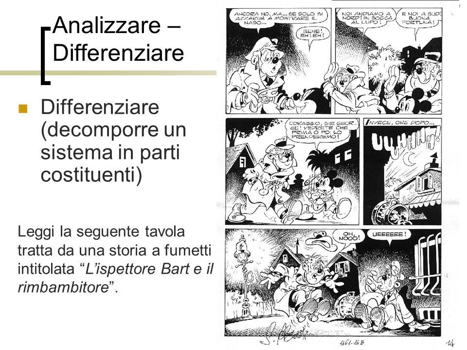 Roberto Trinchero – Dip. di Scienze dellEducazione e della Formazione – Università degli studi di Torino 36 Analizzare – Differenziare Leggi la seguen
